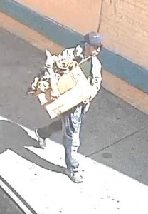 Investigators are seeking the man picture in this photo in connection with an arson fire that caused $3 million worth of damage to an LAUSD maintenance building in downtown Los Angeles on Oct. 3, 2019. (Credit: Los Angeles Fire Department)