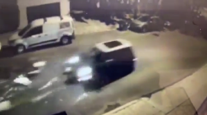 A man was struck and seriously injured by a Mini Cooper in a hit-and-run in Silver Lake on Oct. 25, 2019. (Credit: Los Angeles Police Department)
