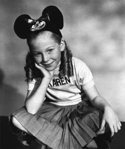 Mouseketeer Karen Pendleton is seen in a promotional image provided by Disney.