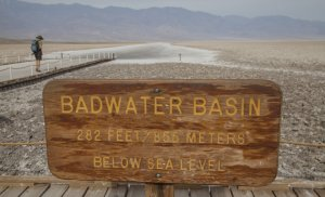 Badwater Basin, the lowest land point in the U.S., is seen in this undated photo. (Credit: Don Kelsen / Los Angeles Times)