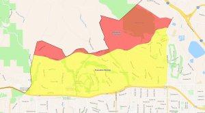 Saddleridge Fire evacation map. (Credit: Los Angeles Police Department)