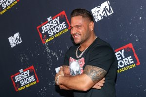 "Television personality Ronnie Ortiz-Magro arrives at the ""Jersey Shore Family Vacation"" Premiere Party at Hyde Sunset Kitchen + Cocktails on March 29, 2018 in West Hollywood. (Credit: Rich Polk/Getty Images for MTV)"