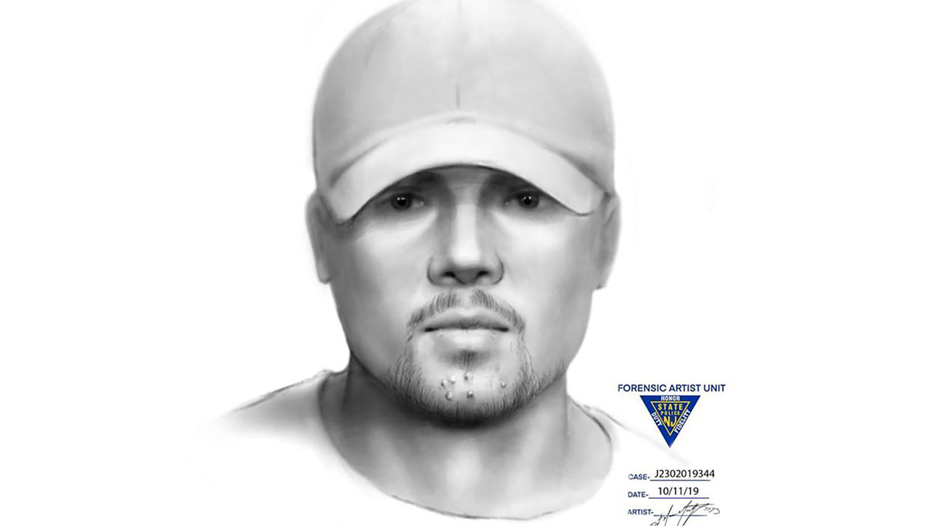 Investigators released a composite sketch of a person who was reportedly seen in the park around the time Dulce Maria Alavez went missing. (Credit: Bridgeton Police Department)