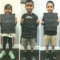 Stephana Lopez (Left), Steven Lopez (middle) and Jakob Cabrera are seen in images provided by the Los Angeles Police Department.