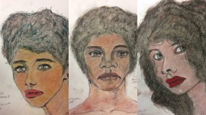 The FBI released these drawings from Samuel Little that shows three unidentified victims from the L.A. area.