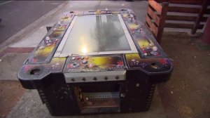 A gaming system is seen following a raid on a suspected illegal casino in Long Beach on Oct. 16, 2019. (Credit: KTLA)