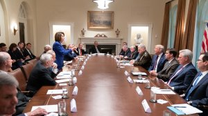 Nancy Pelosi has made this White House picture her cover photo on Twitter.