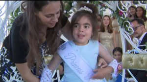 6-year-old Rose realized her dream of becoming a Rose Princess with help from Make-A-Wish and the Tournament of Roses on Oct. 26, 2019. (Credit: KTLA)