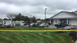 A suspect is in custody after a Saturday shooting at a New Hampshire church left at least one person wounded, Pelham Police Chief Joseph Roark said. (Credit: CNN)