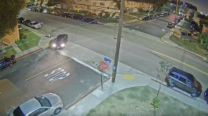 LAPD released surveillance video on Oct. 24 of two cars believed to have been involved in a fatal San Pedro shooting on Sept. 17, 2019.