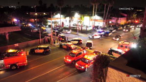 Authorities respond to a shooting at a house party in Long Beach on Oct. 29, 2019. (Credit: OnScene.TV)