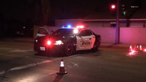 A pedestrian was killed in a hit-and-run along Pacific Avenue in Baldwin Park on Nov. 6, 2019. (Credit: RMG News)