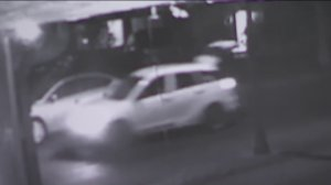A Toyota Matrix that drove through a Leimert Park neighborhood with a screaming woman inside is seen in a surveillance image released by LAPD on Nov. 27, 2019.