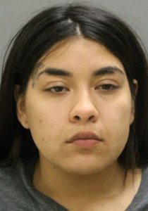 Desiree Figueroa is seen in a booking photo released by Chicago police and obtained by KTLA sister station WGN.