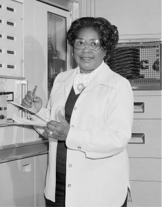 NASA's first female African American engineer, Mary Winston Jackson, is seen in this undated photo. (Credit: NASA)