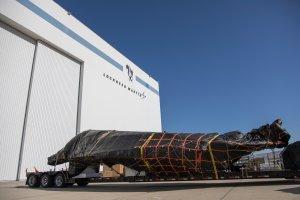 F-117 Fuselage Arriving to Lockheed Martin Skunkworks in Palmdale, CA on Aug. 16, 2019. (Credit: Kyra Betteridge/Lockheed Martin Photography)