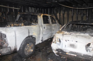 The Corona Fire Department released this image of damage from an Oct. 23, 2019, fire at an apartment complex.