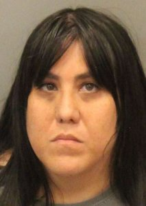 Marcie Montelongo, 35, is seen in an undated booking photo provided by the Gilroy Police Department.