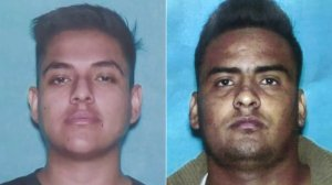 Suspect Roberto Ocampo, left, and victim Neri Ramirez Chalo are seen in photos released Nov. 4, 2019, by the Los Angeles Police Department.