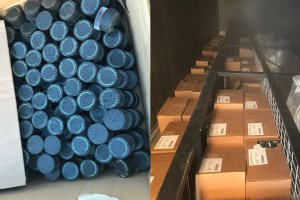 Cannabis products that were seized in the Lompoc area are seen in photos released Dec. 17, 2019, by the Santa Barbara County Sheriff's Office.