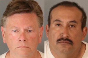 Mark Tyler (left) and Leonardo Galvan (right) arrested by Riverside police.