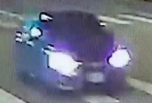 LAPD released this image of a car whose driver is wanted in a hit-and-run that left a 60-year-old pedestrian dead in Echo Park on Dec. 19, 2019.