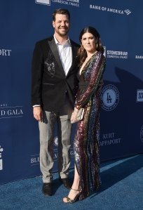 Rich Hill and Caitlin McClellan arrive at the 5th Annual Blue Diamond Foundation at Dodger Stadium on June 12, 2019. (Credit: Gregg DeGuire/Getty Images)