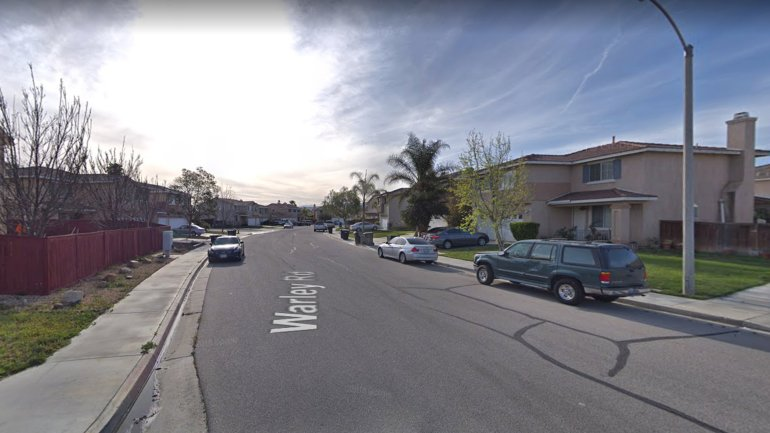 The 3200 block of Warley Road in Hemet, as viewed in a Google Street View image.