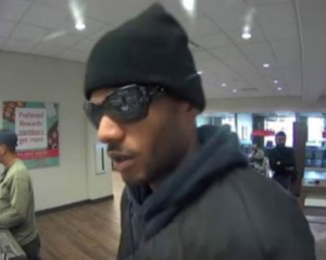 Man accused of robbing five banks shown in the photo. (Credit: LAPD)