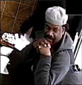 Photo taken from surveillance video of man accused of stabbing man on Jan. 1, 2020. (Credit: LAPD)