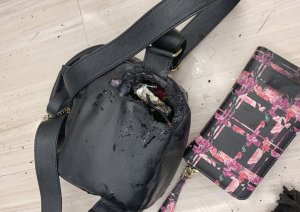 A woman was burned after a vape device exploded in her backpack at a Rite Aid store in Yucaipa on Dec. 31, 2019. (Credit: Calfire via RMG New)