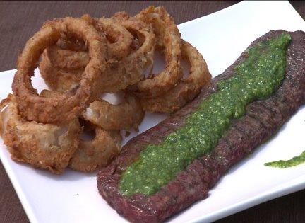 Kit Kat's skirt steak with chimichurri sauce