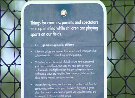 Park in Chicago suburb urges parents to calm down