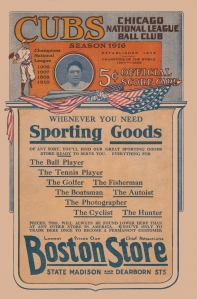 The front cover of the 1916 Game Day Program.