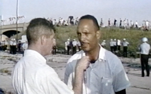 hicago civil rights leader talks to a WGN reporter about the marches and demonstrations held in the summer of 1966