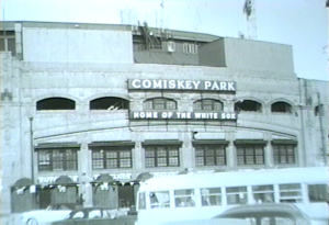 Comiskey Park on Chicago White Sox Opening Day, April 13, 1954.