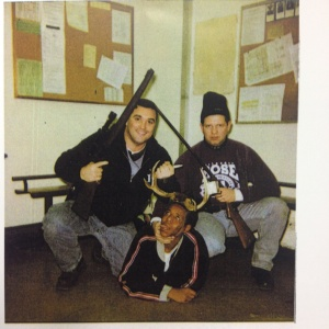 Jerome Finnigan, left, and Timothy McDermott, right, with an unidentified man. Photo obtained from court file from the Chicago Sun-Times.