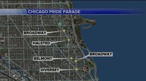 gay pride parade route