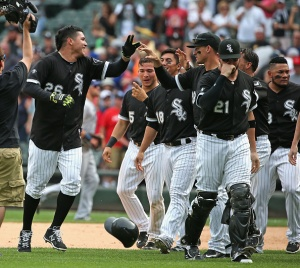 CHICAGO, IL - AUGUST 05: at U.S. Cellular Field on August 5, 2015 in Chicago, Illinois. The White Sox defeated the Rays 6-5 in 10 innings. (Photo by Jonathan Daniel/Getty Images)