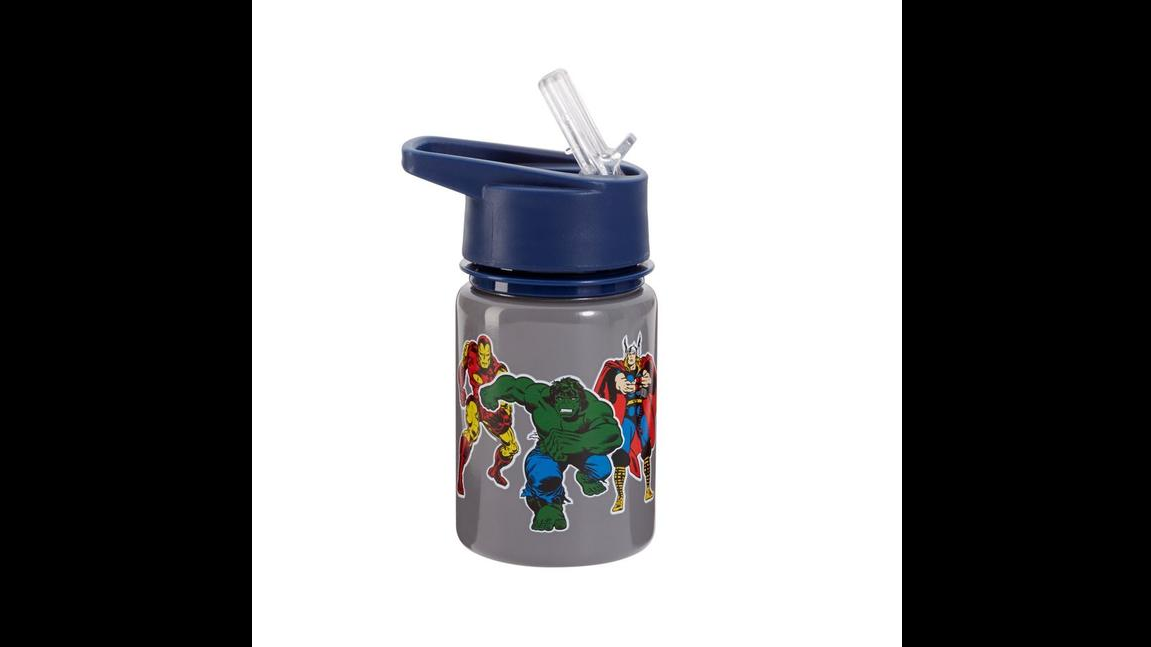 Avengers and Darth Vader-themed water bottles from Pottery Barn have been recalled because the gray paint on the metal portion of the water bottle can contain excessive levels of lead.