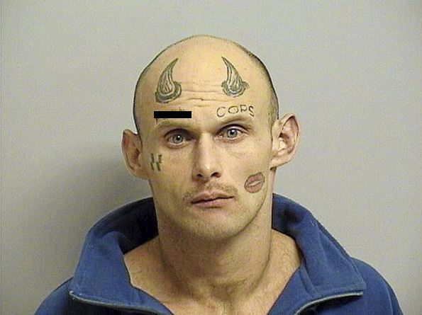 Paul Wayne Terry, 27, Tulsa County Jail. (Censored for explicit content.)