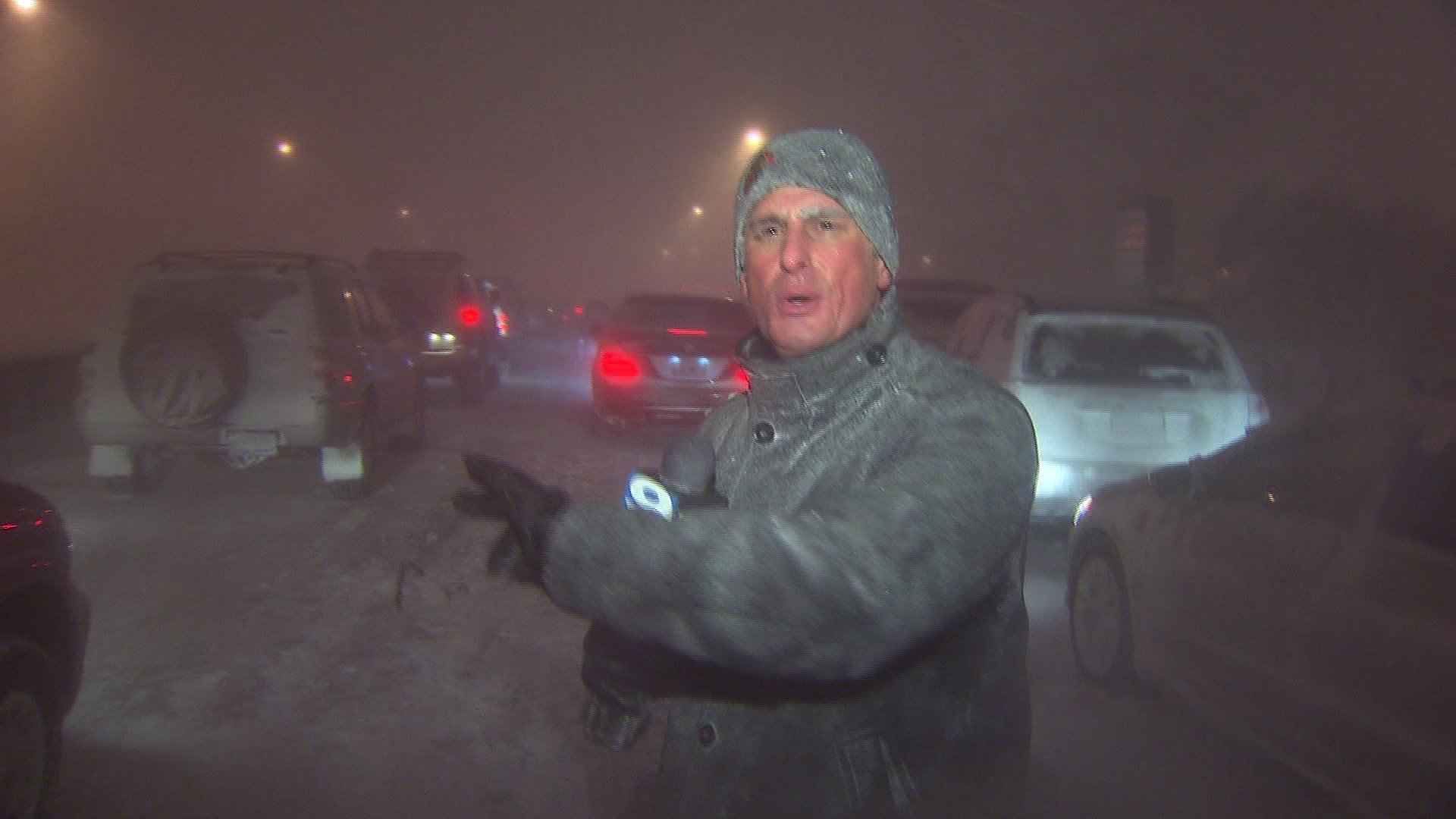 WGN's Tom Negovan reports during the Blizzard of 2011.