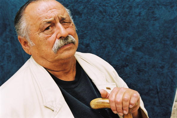 Author Jim Harrison poses while in France during September 2002. (Photo by Ulf Andersen/Getty Images)
