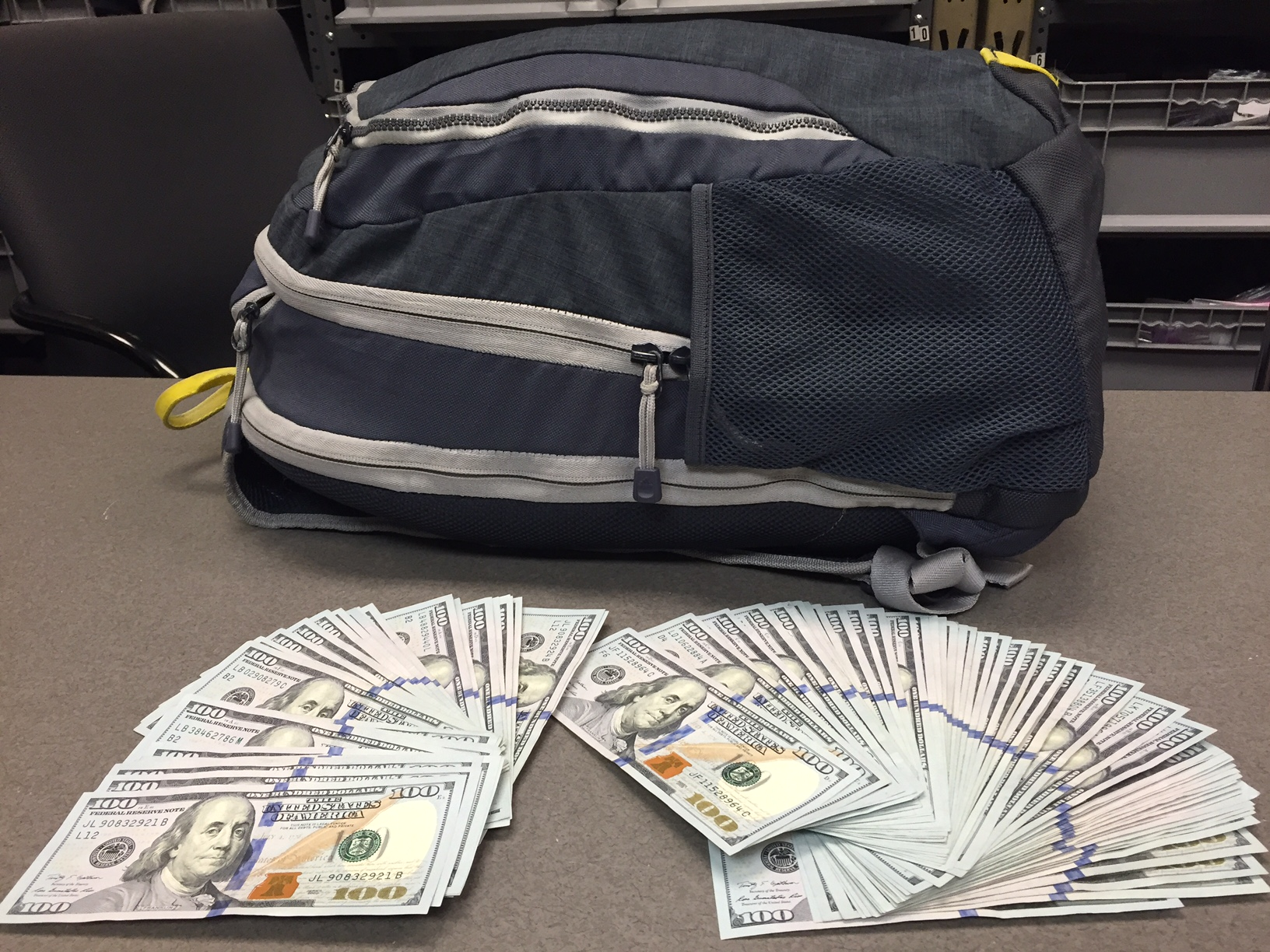 $8,000 cash was lost at the TSA checkpoint at O'Hare and eventually returned to its owner. (TSA photo.)