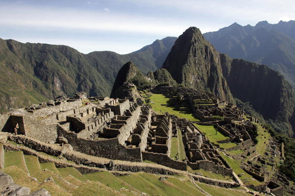 General view of the Inca citadel of Machu Picchu in the Peruvian department of Cusco. (EITAN ABRAMOVICH/AFP/Getty Images)