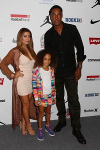 NEW YORK, NY - SEPTEMBER 08: Scottie Pippen (Right) attends Levi's Kids Rock! Runway Show at The Dock, Skylight at Moynihan Station on September 8, 2016 in New York City. (Photo by Thos Robinson/Getty Images for Nike/Levi's/Rookie USA show)