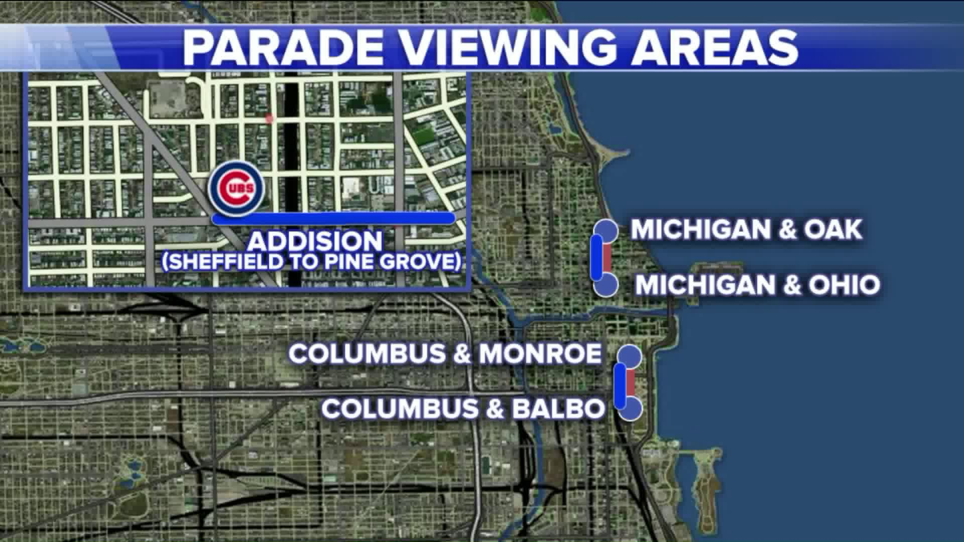 Parade viewing areas