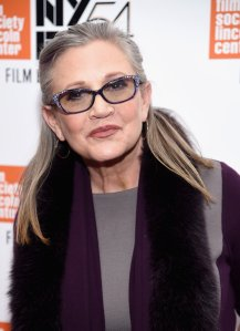 """Carrie Fisher attends the 54th New York Film Festival - """"Bright Lights"""" Photo Cal on October 10, 2016 in New York City. (Photo by Dimitrios Kambouris/Getty Images)"""