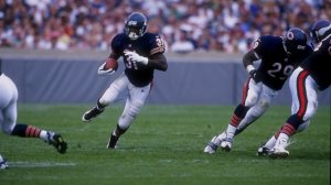 7 Sep 1997:  Rashaan Salaam #31 of the Chicago Bears in action during a game against the Minnesota Vikings at Soldier Field in Chicago, Illinois.  The Vikings defeated the Bears 27-24. Mandatory Credit: Jonathan Daniel  /Allsport
