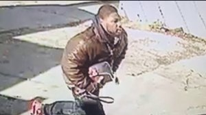 The suspect was caught on security camera